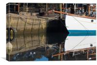 Boatyard Reflections, Canvas Print