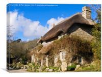 Penberth Thatched Cottage, Canvas Print