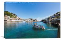 Looe Ferry Boat, Canvas Print