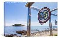 Looe Town Council, Canvas Print