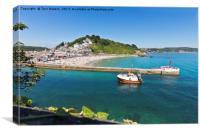 Looe Beach And Banjo Pier Cornwall, Canvas Print