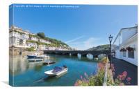 Looe Bridge In Cornwall, Canvas Print
