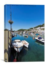 Boats at Looe in Cornwall, Canvas Print