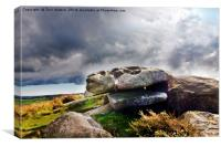 Cup and Saucer Rock Carn Brea, Canvas Print