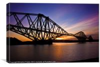 Forth Bridge Sunrise., Canvas Print