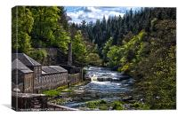 New Lanark, Canvas Print