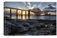 Forth Bridge Sunset, Canvas Print