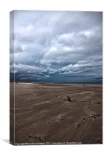 Windswept sands, Canvas Print
