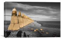 Cramond at low tide, Canvas Print