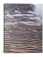 Walney Island beach & rippled sand, Canvas Print