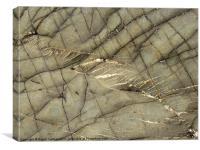 Pembrokeshire Beach rock detail, Canvas Print