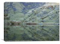 Reflections, Levers Water, The Lakes, Canvas Print