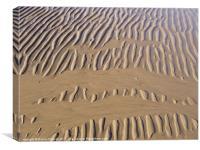 Rippled sand of estuary, Canvas Print