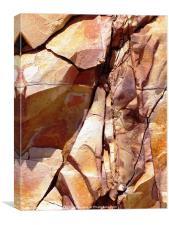Iron mines of Greek Island, Canvas Print