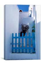 Blue Gate, Greece, Canvas Print