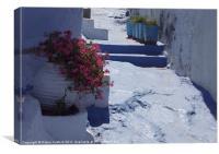 Greek Pathway, Canvas Print