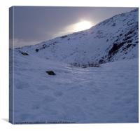 Coniston, New Years Day, Canvas Print