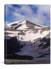 Snow fields near Mount Olympus