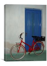 Bright bike, way to go!, Canvas Print