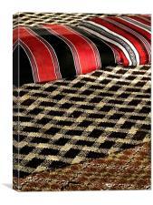 Bedouin Desert Camp textiles, Canvas Print
