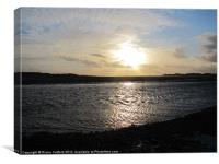 Ravenglass, Cumbria coastline., Canvas Print