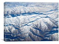Mountains & desert, Canvas Print