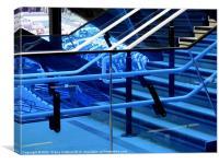 Olympic Stadium Blue Glass Stadium, Canvas Print