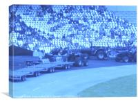 Olympic Stadium Blue Glass Reflections, Canvas Print