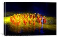 London Olympics Opening Ceremony Rehearsal, Canvas Print