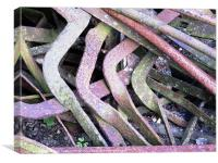 Bent and twisted metal, Canvas Print