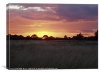Sunset, Cranfield Airport, Canvas Print