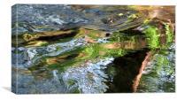 River ripples reflections Dartmoor, Canvas Print