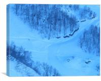 Olympic ski run Summit Krasnaya Polyana, Canvas Print
