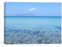 Clear blue waters of Plathiena, Milos, Greece, Canvas Print