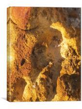 Rich rock on Greek Pathway, Canvas Print