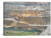 Opencast Mine Milos. Natural colours1, Canvas Print