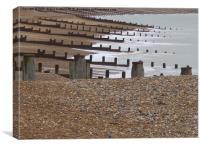 Eastbourne Beach, Canvas Print