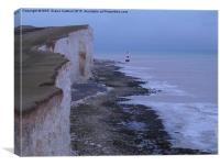 Beachy Head Cliffs & Lighthouse , Canvas Print