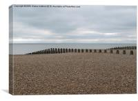 Winters Beach, Eastbourne, Sussex UK, Canvas Print