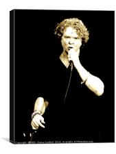 Mick Hucknell Simply Red at Cartmel Racecourse, Canvas Print