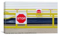 Going Nowhere Lifeboat Stop Notices to all, Canvas Print