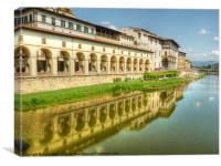 River Arno Florence, Canvas Print