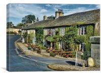 The Red Lion, Burnsall, Canvas Print
