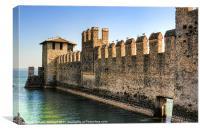 Sirmione Castle (Rocca Scalgera), Canvas Print