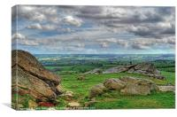 View from Almscliff Crag #4., Canvas Print