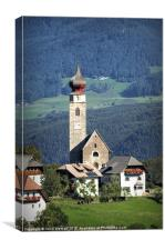 A typical tyrolean scene taken above Bolzano in th, Canvas Print