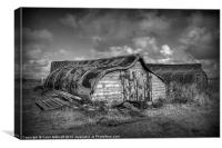 Fisherman's Hut in Mono., Canvas Print