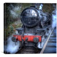 Under Steam Again., Canvas Print