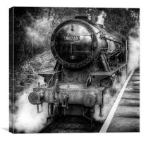 Under Steam Again. Mono., Canvas Print