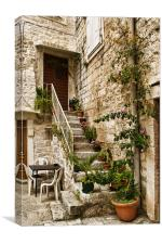 The Back Stairs, Canvas Print